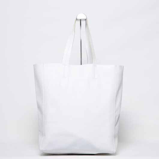 Visuel - Grand Shopper Cuir Blanc - ordinari.shop
