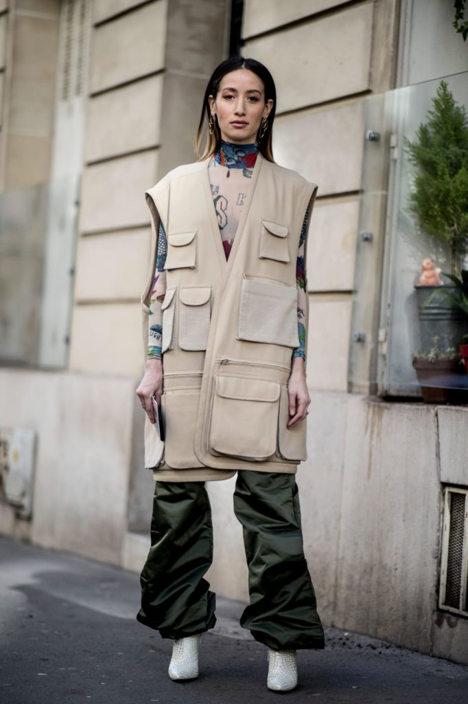 Visuel de femme portant un gilet multi-poches oversize - Tendances 2019 - Article de blog ordinari.shop